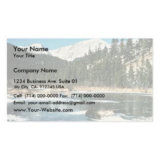 Montañas rocosas, parque nacional tarjetas de visita