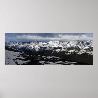 Montañas rocosas póster