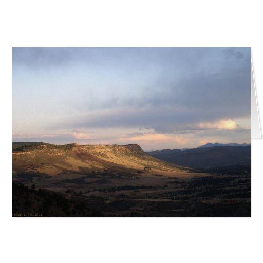 Montañas rocosas tarjeta de felicitación