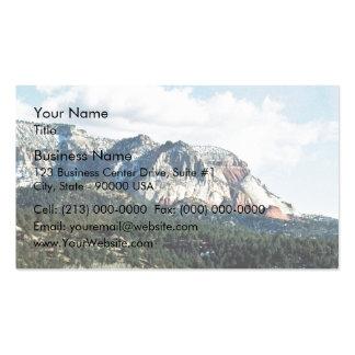 Montañas rocosas tarjetas de visita