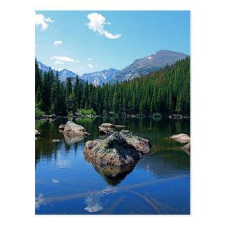 Montañas rocosas tarjetas postales