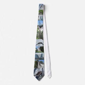 Montañas rusas corbata personalizada