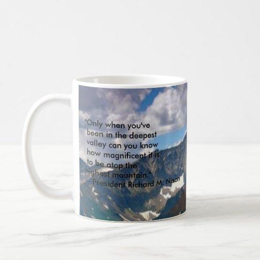 """montañas, """"solamente cuando usted ha estado en los taza básica blanca"""