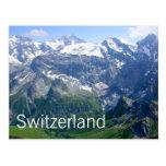 Montañas suizas postal