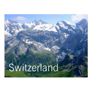 Montañas suizas tarjetas postales