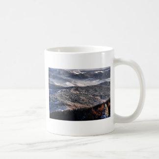 montañas taza