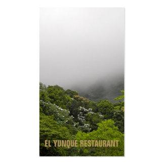 Montañas tropicales plantilla de tarjeta personal