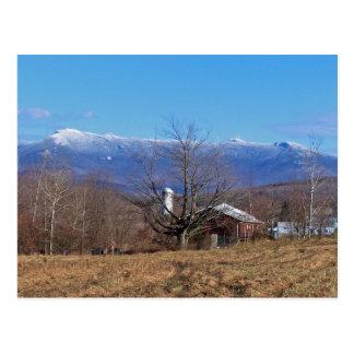 Montañas verdes de Vermont Postal
