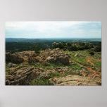 Montañas Vista de Wichita con el bisonte americano Impresiones