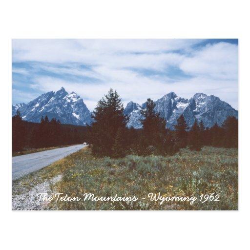 Montañas Wyoming de Teton Tarjeta Postal