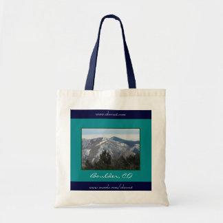 Montañas y árboles, Boulder, la bolsa de asas del