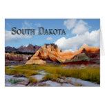 Montañas y Badlands NP Dakota del Sur del cielo Tarjeton