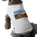 Montañas y cielo en el parque nacional de los Badl Camiseta De Perrito