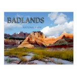 Montañas y cielo en el parque nacional de los Badl Tarjetas Postales