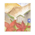 Montañas y flores bloc