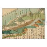 Montañas y mapa de los ríos tarjeta de felicitación