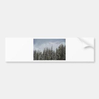 Montañas y postal de la nieve pegatina para auto