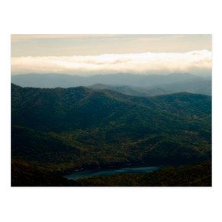 Montañas y río negros de Swannanoa Tarjetas Postales