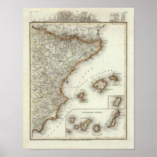 Montañas y ríos de las islas Canarias Póster