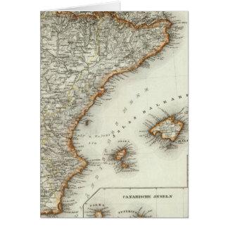 Montañas y ríos de las islas Canarias Tarjeta De Felicitación