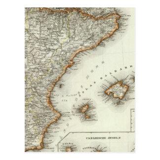 Montañas y ríos de las islas Canarias Postal