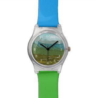 Montañas y ríos del extracto de Denali Reloj