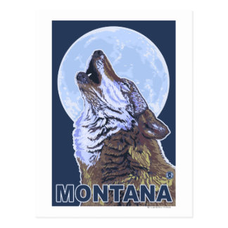 MontanaWolf Howling Postcard