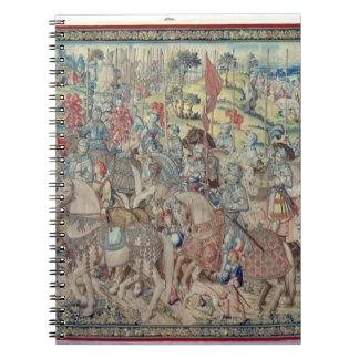 Montando a los jinetes, de la tapicería de 'David Spiral Notebook