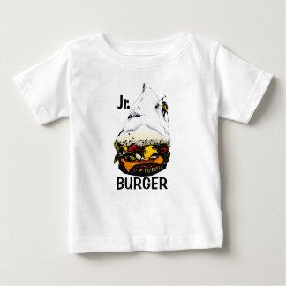 Montañés menor de la hamburguesa - 3 playera de bebé