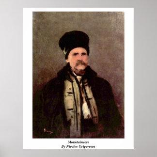 Montañeses de Nicolae Grigorescu Posters