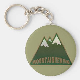 montañeses, estilo de la montaña llavero redondo tipo pin