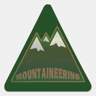 montañeses, estilo de la montaña calcomanías de triangulos personalizadas