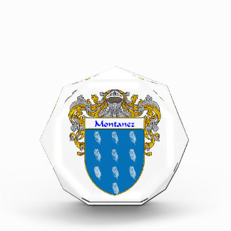 Montanez Coat of Arms Family Crest Acrylic Award