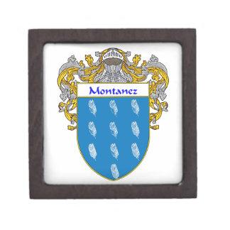 Montanez Coat of Arms/Family Crest Keepsake Box