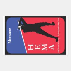 Montante HEMA decal Rectangular Sticker