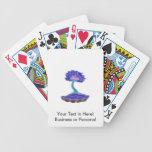 montante informal invertido del árbol de los bonsa baraja cartas de poker