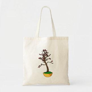 Montante informal, tipo gráfico de la cereza de lo bolsas lienzo