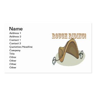 Montar a caballo áspero tarjetas de visita