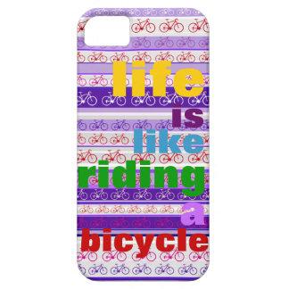 montar a caballo colorido una cita de la bicicleta iPhone 5 protectores