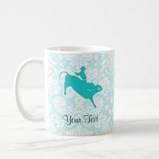 Montar a caballo de Bull del trullo Taza De Café
