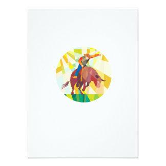 Montar a caballo de Bull del vaquero del rodeo que Invitación 13,9 X 19,0 Cm