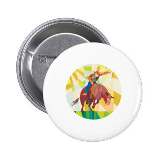Montar a caballo de Bull del vaquero del rodeo que Pin Redondo 5 Cm