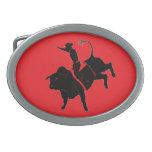 Montar a caballo de Bull Hebilla De Cinturon Oval