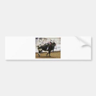 Montar a caballo de Bull Pegatina Para Auto