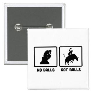 Montar a caballo de Bull Pin Cuadrada 5 Cm