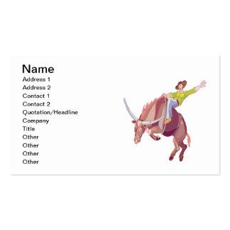 Montar a caballo de Bull Tarjetas De Visita