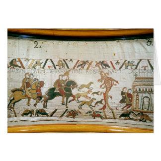 Montar a caballo de Harold del conde con sus cabal Tarjeta