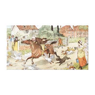 Montar a caballo de Juan Gilpin sin embargo el pue Impresiones En Lona