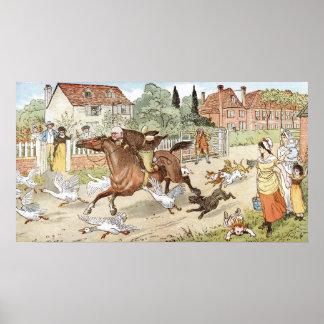 Montar a caballo de Juan Gilpin sin embargo el pue Póster