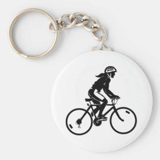 Montar a caballo de la bicicleta llavero